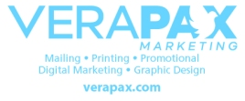 Side panel of a mailbox designed to send to clients as a thank you for doing business with Verapax.